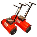 Both sizes of the industrial magnetic sweepers