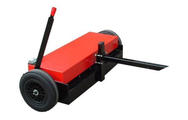 Towable Magnetic sweeper with release mechanism. Fully adjustable