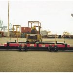Towable magnetic sweepers on tow - forklift